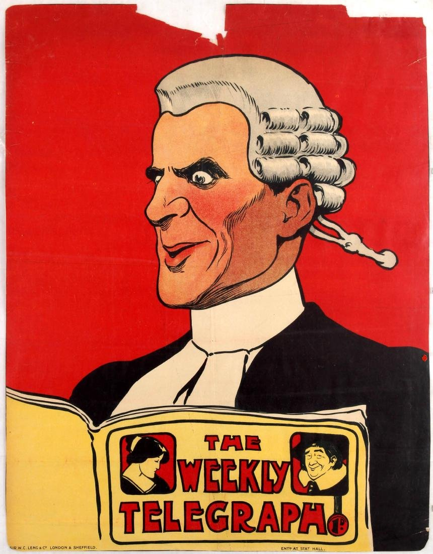 Advertising Poster The Weekly Telegraph Lawyer