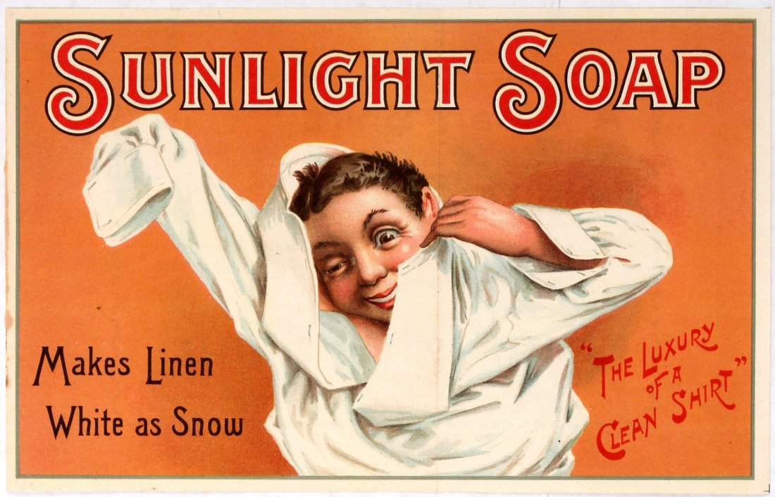 Advertising Poster Sunlight Soap Victorian Child