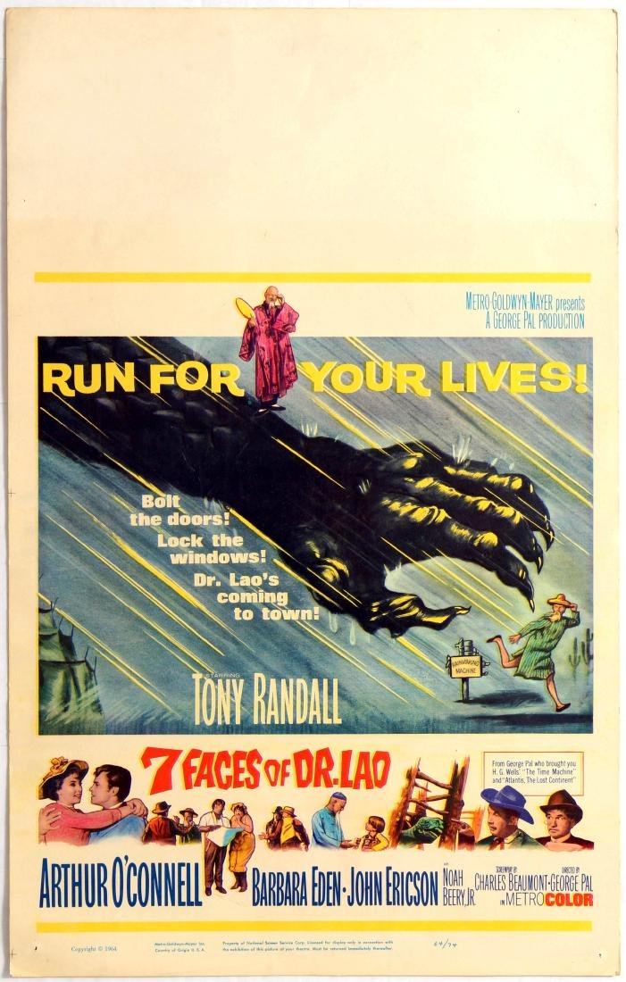 Movie Poster 7 Faces of Dr Lao Run for your lives