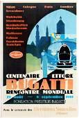 Advertising Poster Centenaire Ettore Bugatti