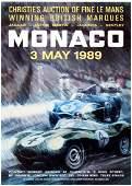 Advertising Poster Le Mans Jaguar Aston Martin Lagonda