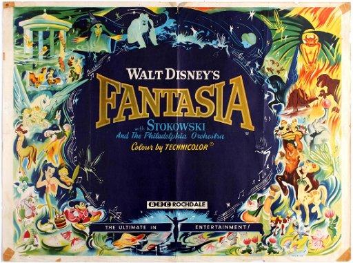 Movie Poster Fantasia Walt Disney Nov 18 2017 Antikbar Original Vintage Posters In United Kingdom