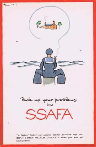 Propaganda Poster SSAFA by Fougasse