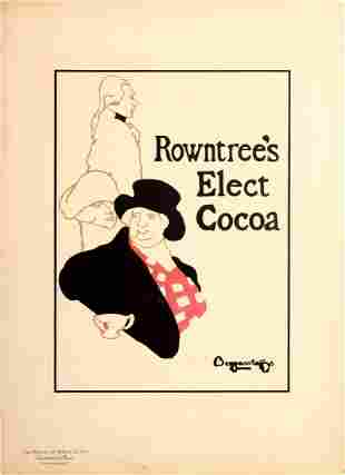 Advertising Poster Rowntrees Elect Cocoa Beggarstaff