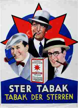 Advertising Poster Ster Tabak Star Tobacco Hollywood