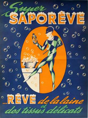 Advertising Poster Super Saporeve Art Deco
