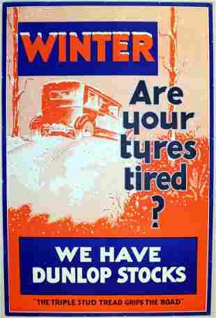 Advertising Poster Dunlop Winter Tyres