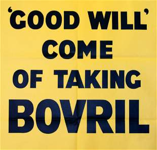 Advertising Poster Bovril Good Will Come of Taking