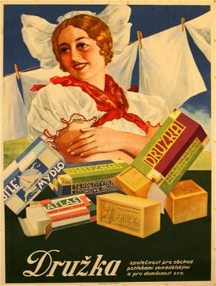 Advertising Poster Girlfriend Soap