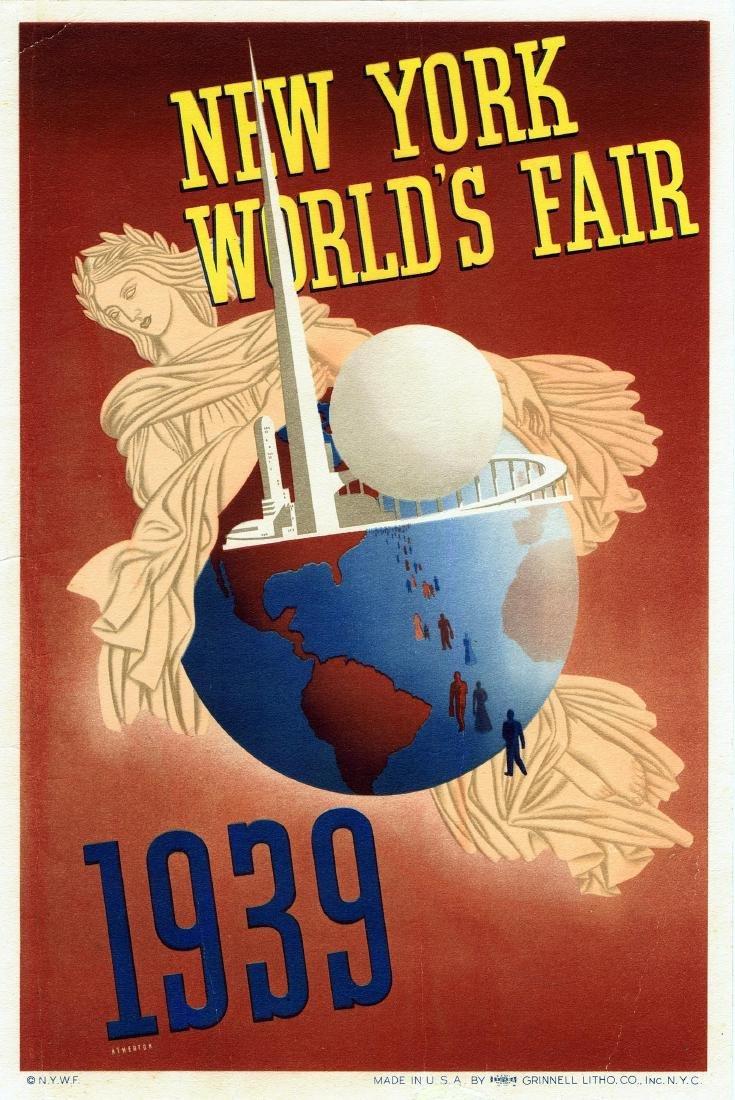 Art Deco Poster New York.Travel Poster New York World Fair 1939 Art Deco