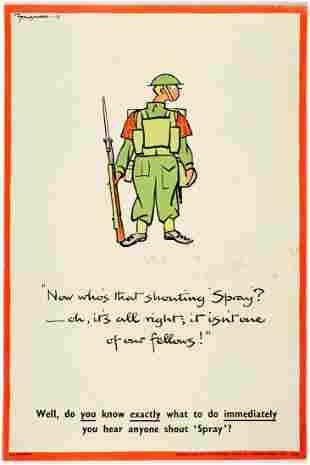 WWII Propaganda Poster Fougasse Chemical Warfare