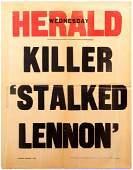 Three Advertising Posters Lennon Stalker Murder Yoko