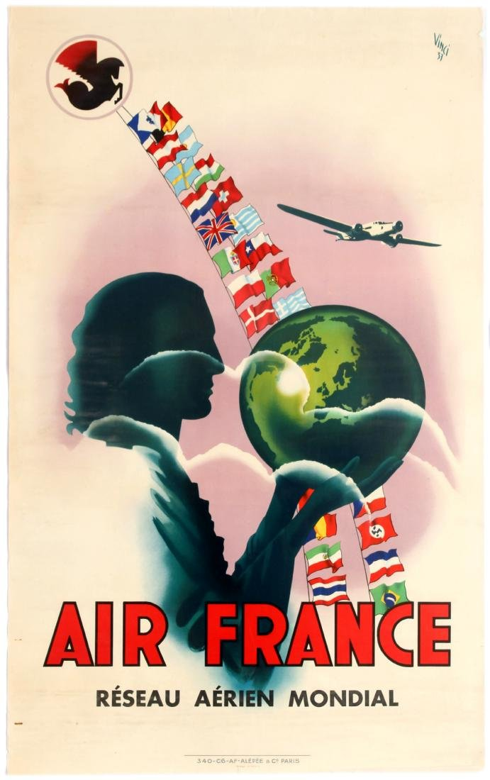 Travel Poster –Air France Reseau Aerien Mondial