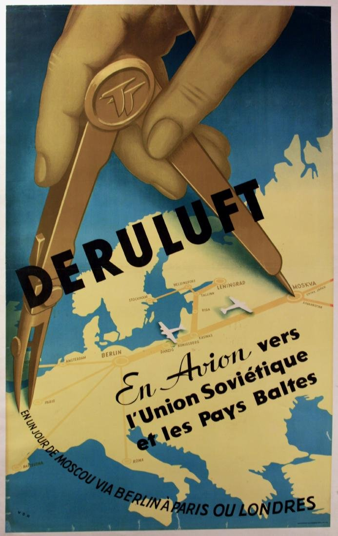 Advertising Poster Airline Deruluft