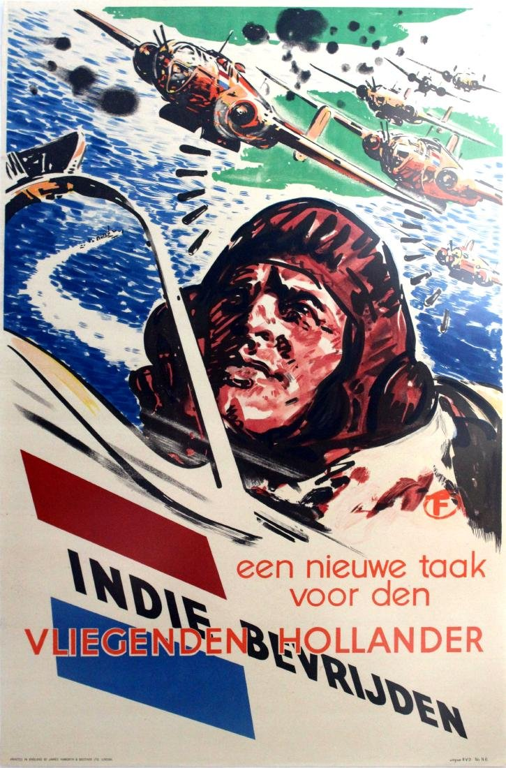 War Poster Liberate Dutch East Indies Indonesia WWII