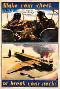 Propaganda Poster Air Force Pilot Safety Make Check