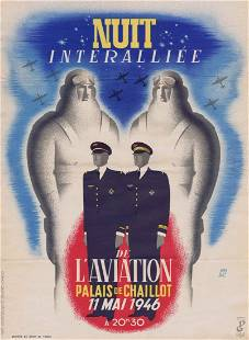 Propaganda Poster Allied Aviation Evening Art Deco