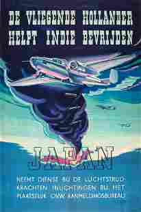 War Poster The Flying Dutchman Helps Liberate Japan