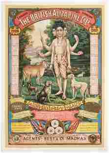 Original Advertising Poster Raja Ravi Varma India