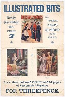 Original Vintage Advertising Poster Illustrated Bits