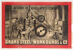 Original Vintage Circus Advertising Poster Duro Grand
