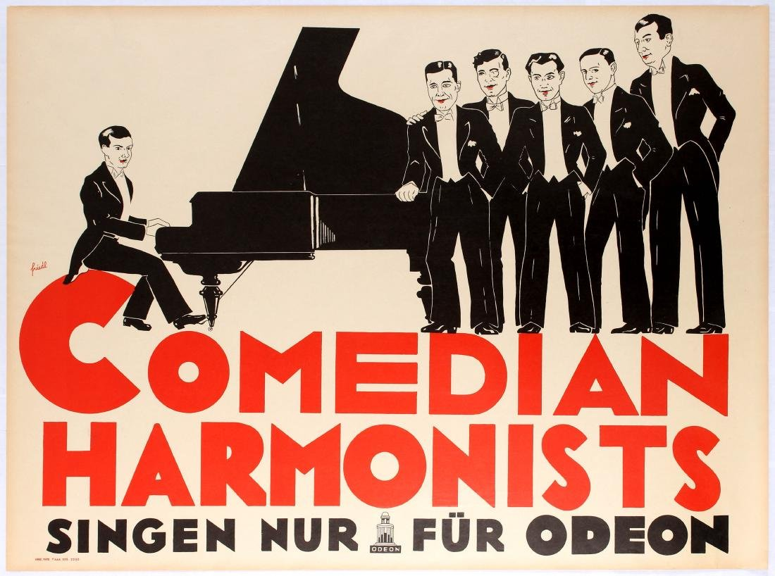 Original Advertising Poster Comedian Harmonists Odeon