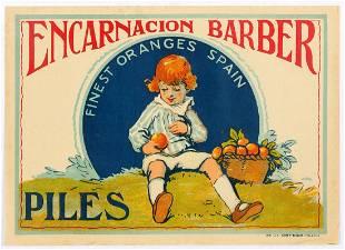 Set of 2 Original Spanish Orange Crate Labels