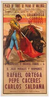 Original Vintage Advertising Poster Corrida Barcelona