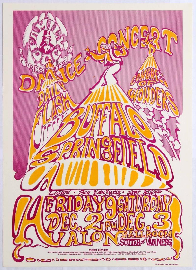 Original Concert Advertising Poster Buffalo Springfield