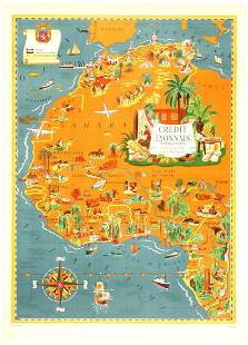 Original Vintage Advertising Poster North Africa Lucien