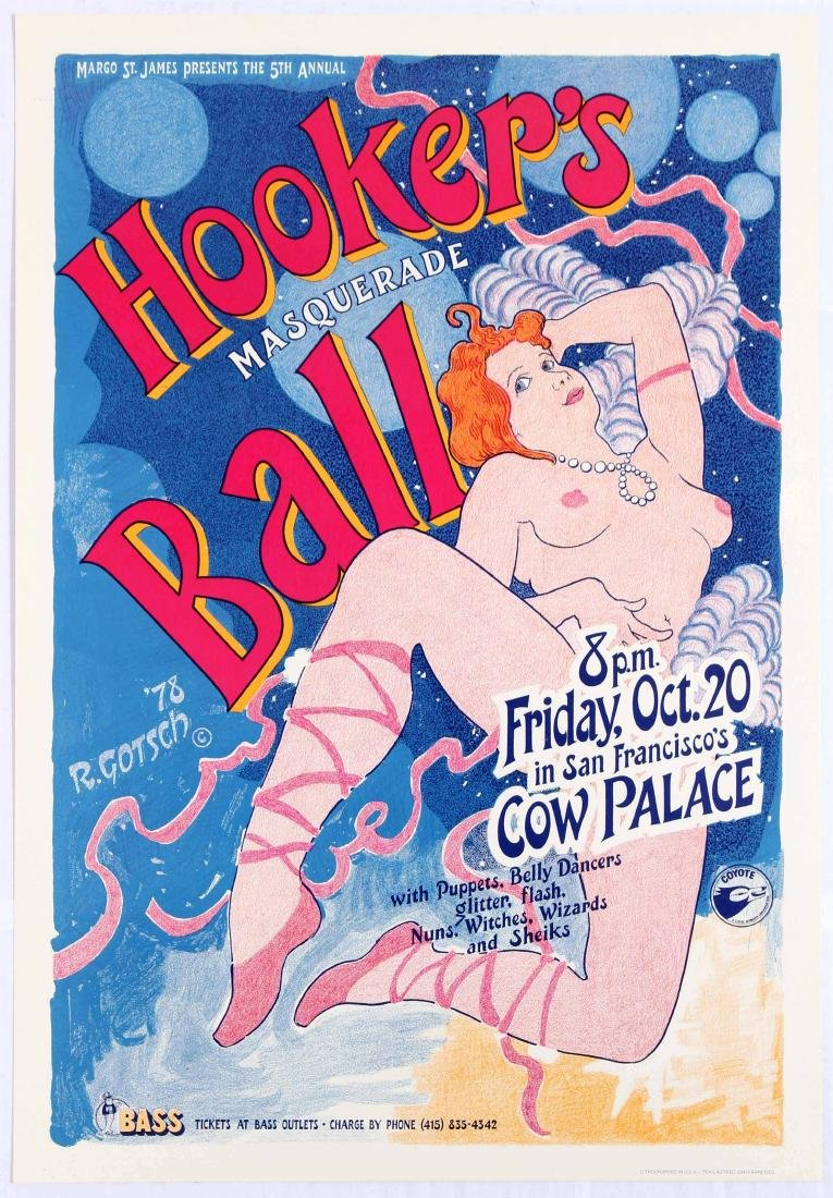 Hooker's Masquerade Ball Advertising poster