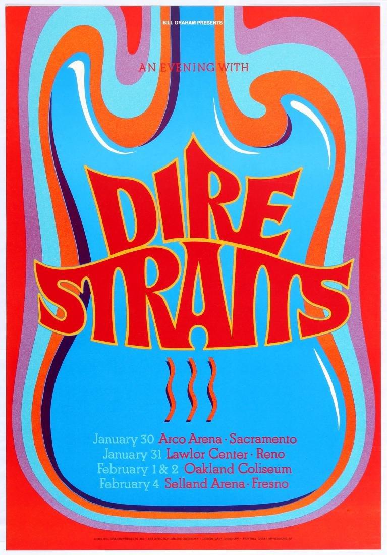 Original Advertising Concert Poster Bill Graham Dire