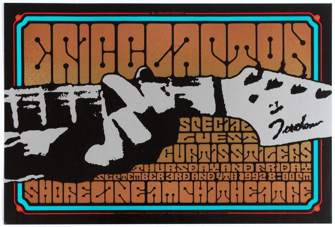 Original Advertising Concert Poster Eric Clapton Bill