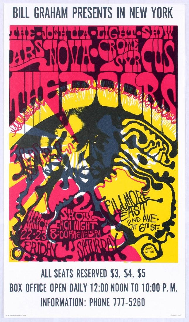 Original Advertising Concert Poster The Doors Bill