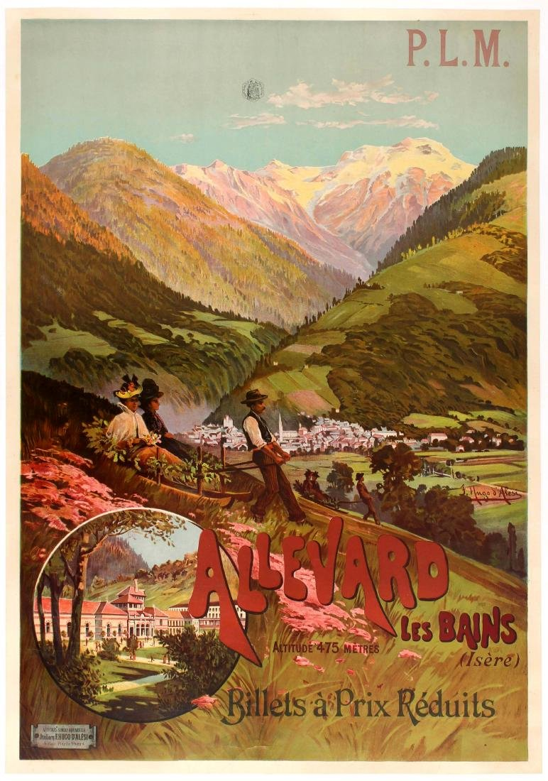 Original Travel Poster PLM Allevard Les Bains France