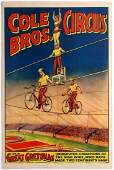 Original Advertising Poster Cole Bros Circus Gretonas