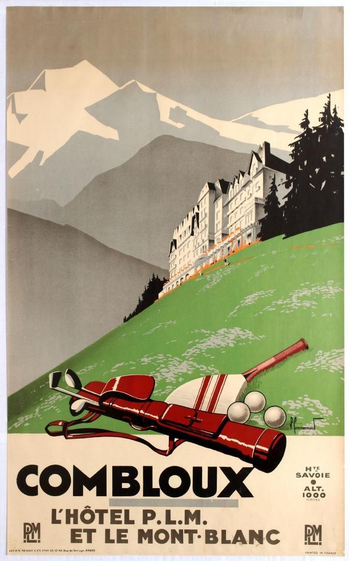 Original Travel Poster Combloux PLM Mont Blanc Golf