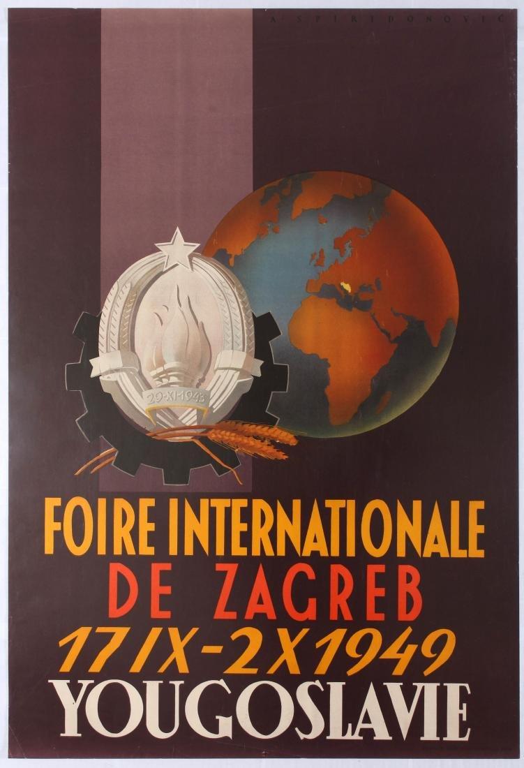 Original Travel Poster Zagreb Croatia Trade Fair
