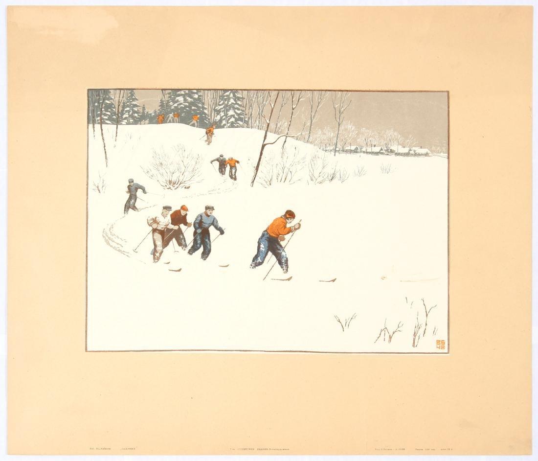 Original Vintage Sport Propaganda Cross Country Skiing
