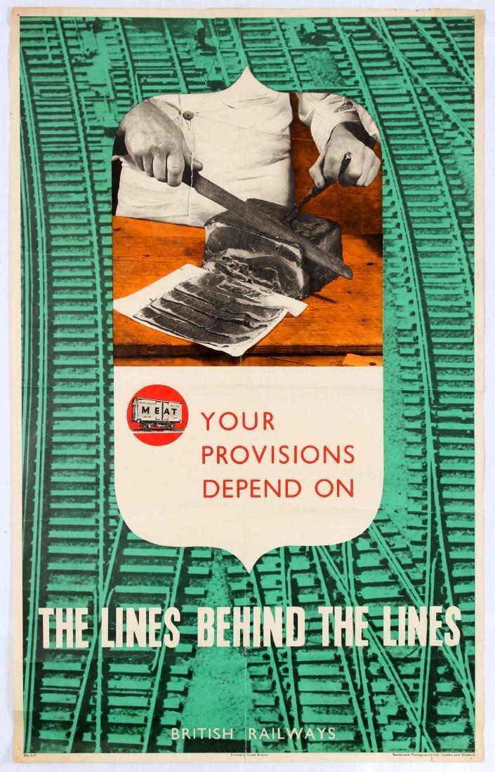 Original Propaganda Poster Provisions British Railway