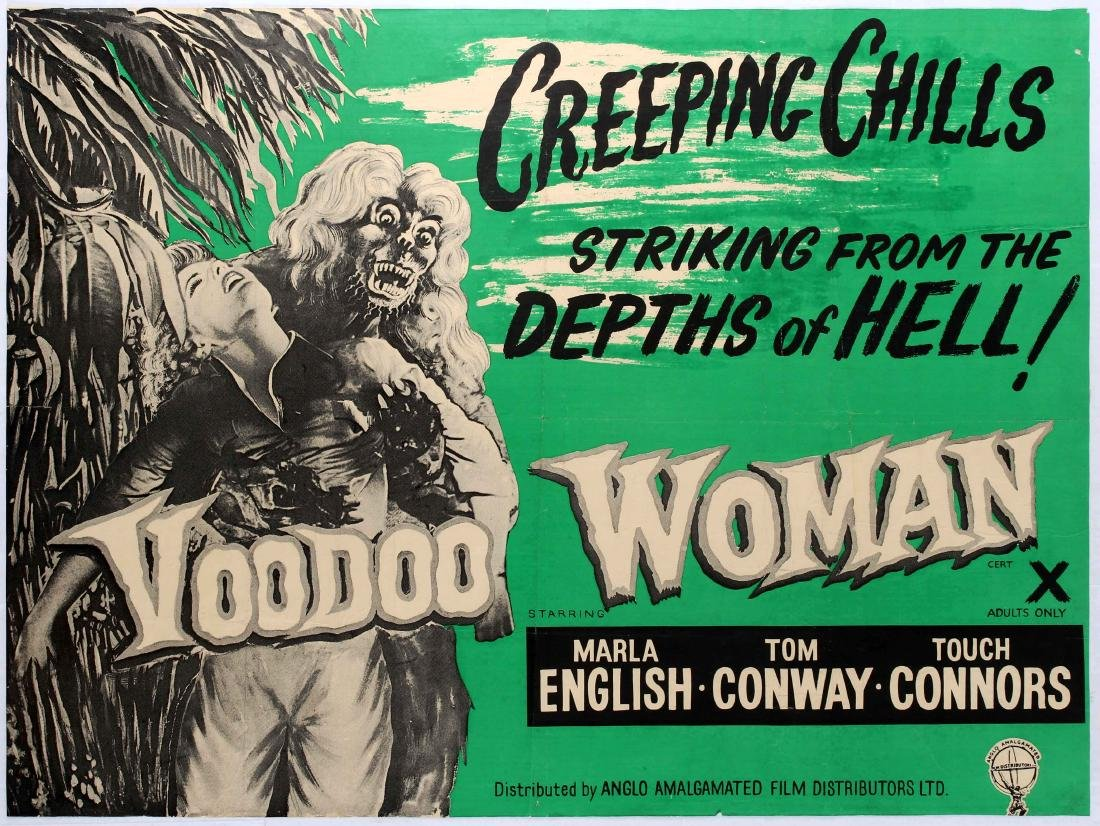 Original Movie Poster Voodoo Woman Horror UK Quad