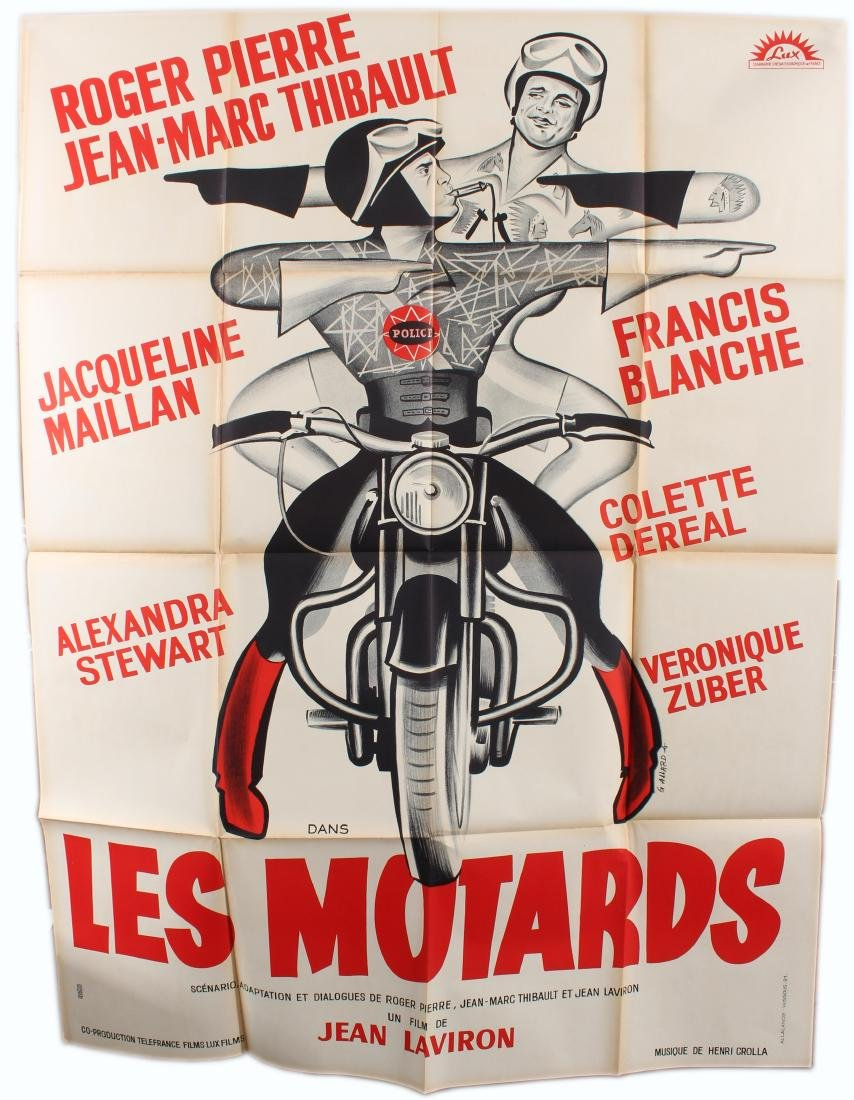 Original Movie Poster Les Motards The Motorcycle Cops