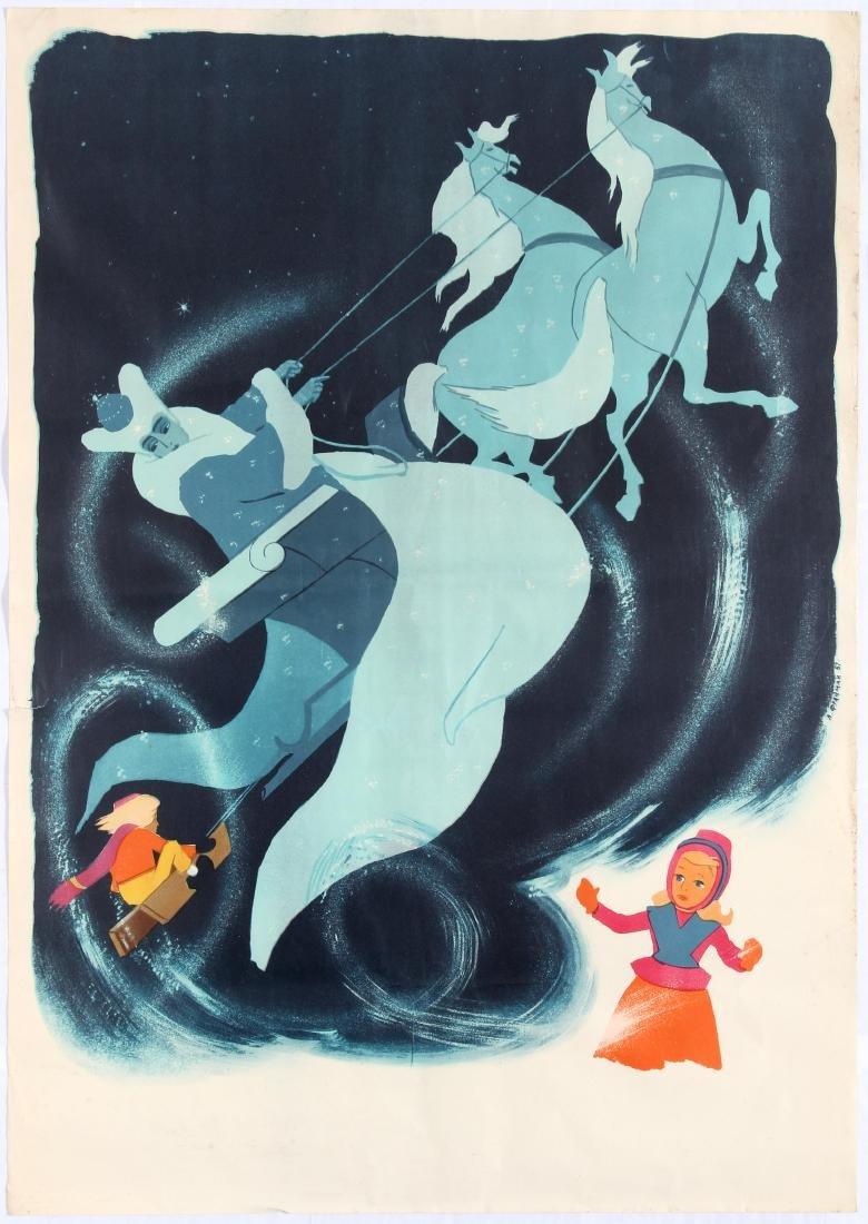 Original Vintage Movie Poster Ice Queen Animation