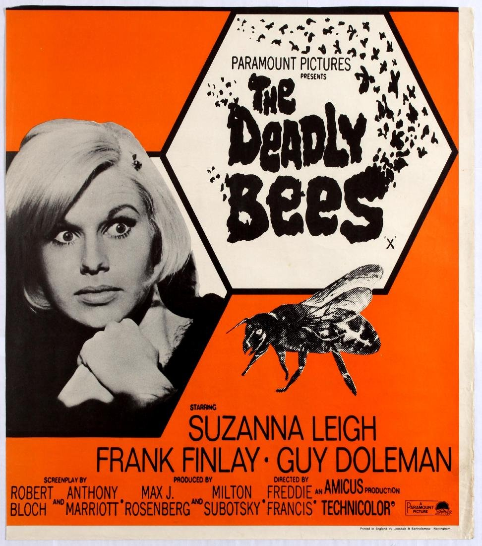 Original Movie Poster The Deadly Bees Horror
