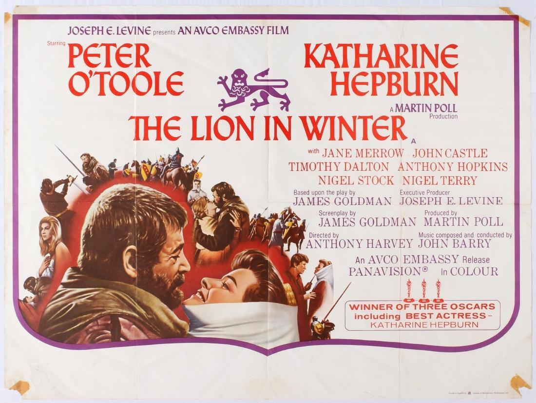 Original Movie Poster The Lion in Winter UK Quad