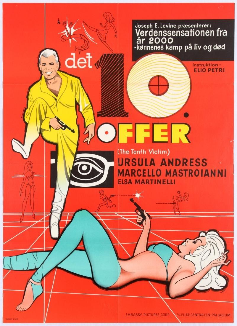 Original Vintage Movie Poster 10th Victim Mastroianni