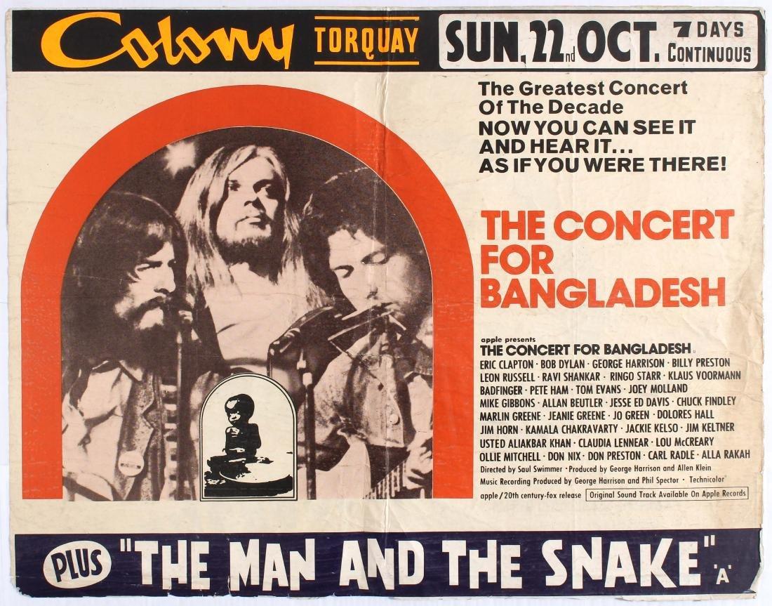 Original Movie Poster The Concert for Bangladesh George