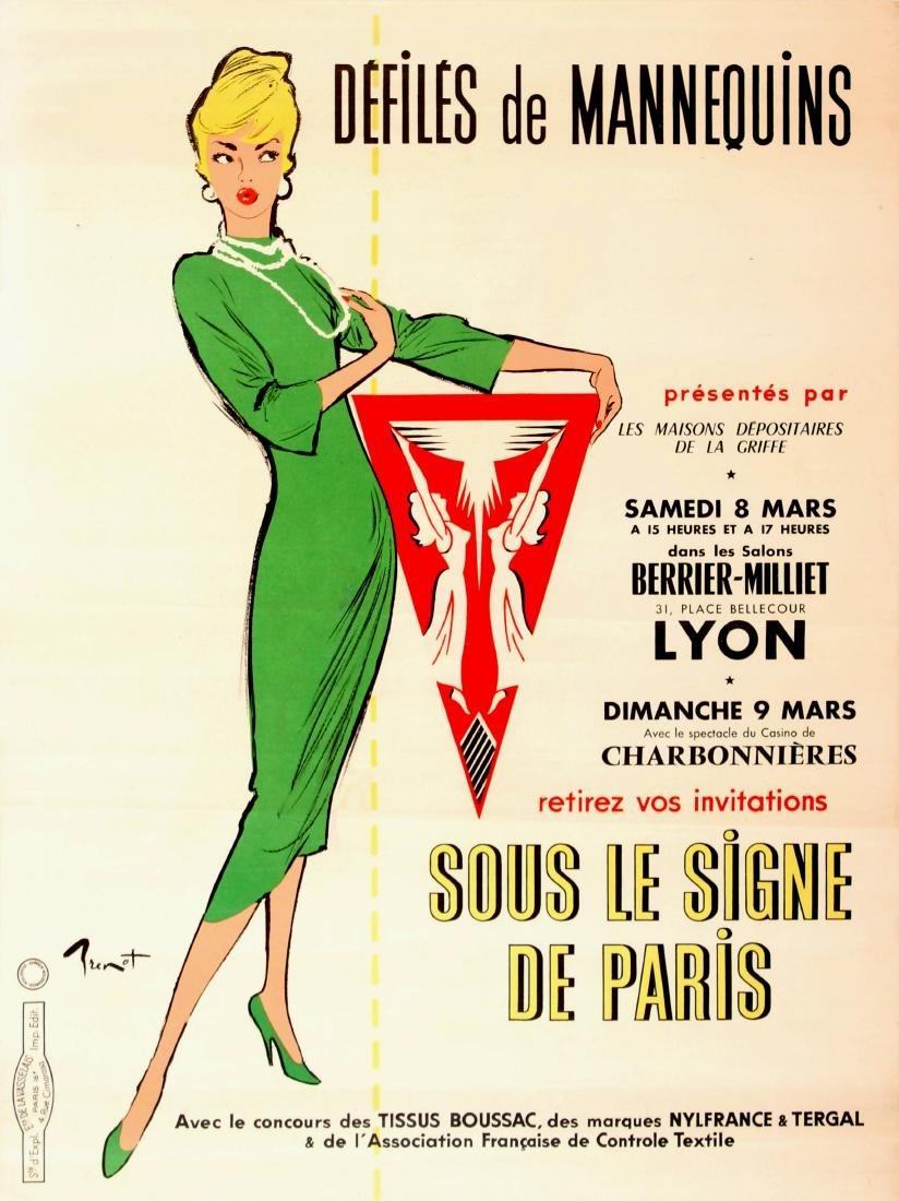Original  Advertising Poster Fashion Models Catwalk