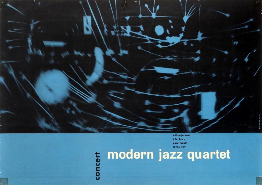 Original  Advertising Poster Modern Jazz Quartet