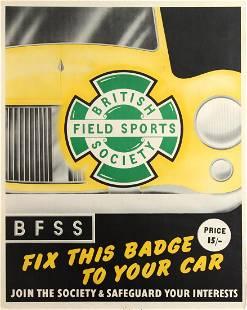 Original Advertising Poster British Field Sports